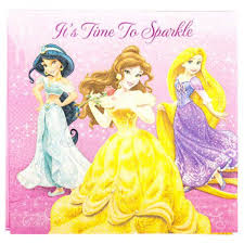 16 Napkins Disney Princess Sparkle