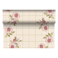 "Table Runner Tissue Bordeaux ""Berryrose"" ""ROYAL Collection"" 24m x 40cm Roll"