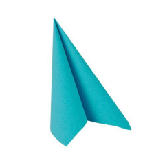 "20 Napkins Turquoise ""ROYAL Collection"" Medium"