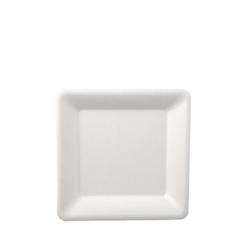 12 Plates Pure 15.5cm Square white