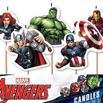 5 Birthday Candles Avengers
