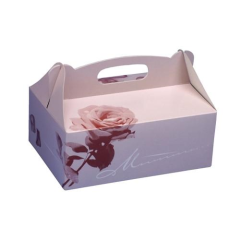 20 Cake boxes with handle Square 16 x 10 x 9 cm Rosé