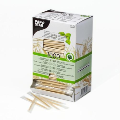 1000 Toothpicks Single Wrapped 6.5 cm Round w/ Menthol