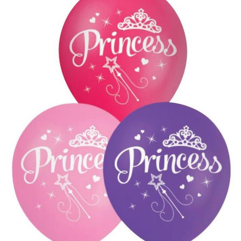 10 Balloons Latex 30cm Princess