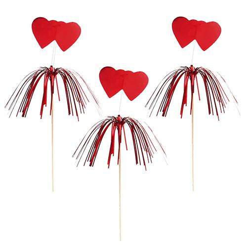 "100 Picks ""Heart Amore"" Red 22 cm"
