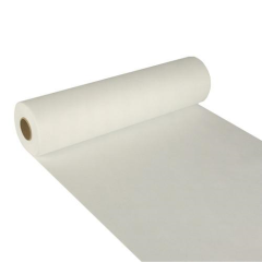 "Table Runner; cloth-like; nonwoven ""soft selection"" 24 m x 40 cm white on roll"
