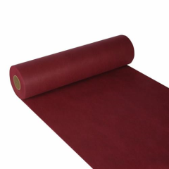 "Table Runner; cloth-like; nonwoven ""soft selection"" 24 m x 40 cm bordeaux on roll"