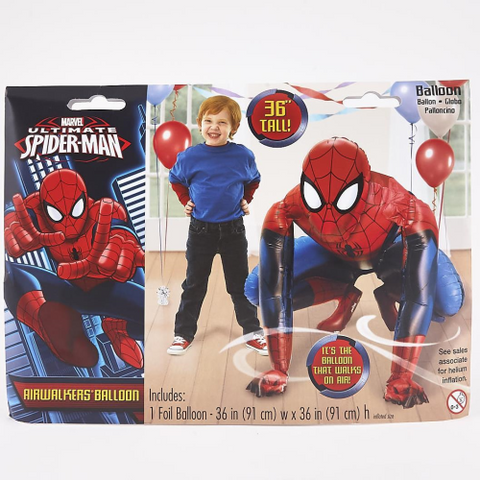 Airwalker Spiderman Balloon Foil 71cm x 109cm
