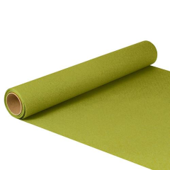 "Table Runner Tissue Olive Green ""ROYAL Collection"" 5m x 40cm Roll"