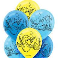 6 Balloons Latex Finding Dory