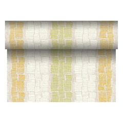"Table Runner Tissue Olive Green ""Steam"" ""ROYAL Collection"" 24m x 40cm Roll"
