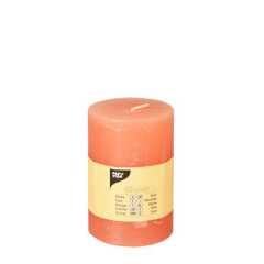 "Cylinder candles 퀏ì 70 mm 퉌‡ 100 mm nectarine ""Rustic"" completely colored"