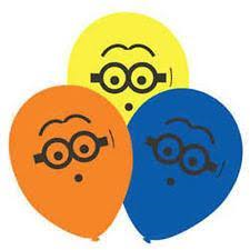 6 Balloons Latex Minions Despicable Me