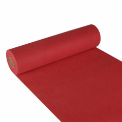 "Table Runner; cloth-like; nonwoven ""soft selection"" 24 m x 40 cm red on roll"
