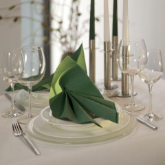 "20 Napkins Dark Green ""ROYAL Collection"" Medium"