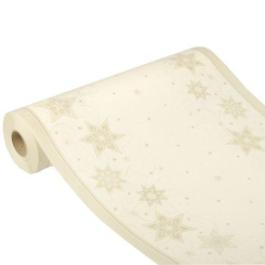 "Table Runner Tissue Champagne ""Just Stars"" ""ROYAL Collection"" 24m x 40cm Roll"