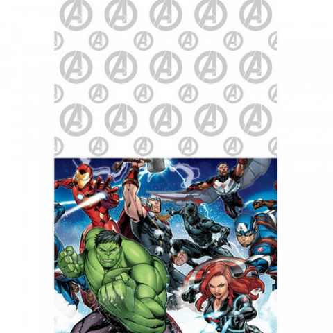 Table Cloth Plastic Avengers 1.37m x 2.43m