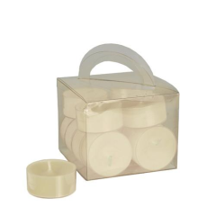 12 Tealights Cream 38 x 18 mm