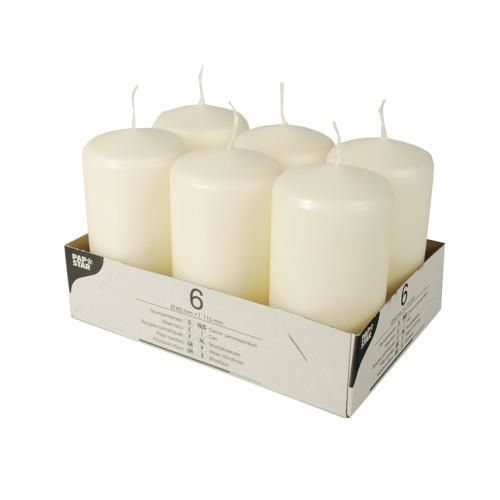 6 Candles Pillar Cream