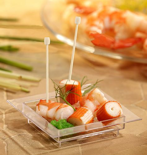 "100 Fingerfood skewers 7cm ""Drum"""