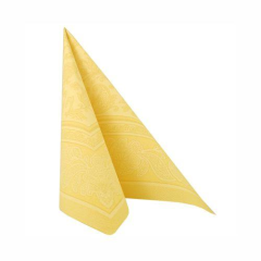 "50 Napkins Yellow ""Ornaments"" ""ROYAL Collection"" Large"