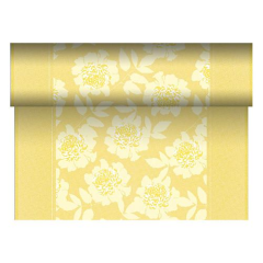 "Table Runner Tissue Yellow ""Adele"" ""ROYAL Collection"" 24m x 40cm Roll"