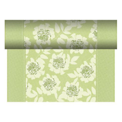 "Table Runner Tissue Green ""Adele"" ""ROYAL Collection"" 24m x 40cm Roll"