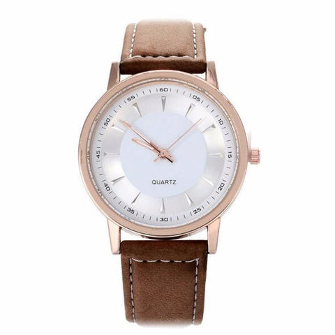 Independent: Champagne Gold PU leather watch