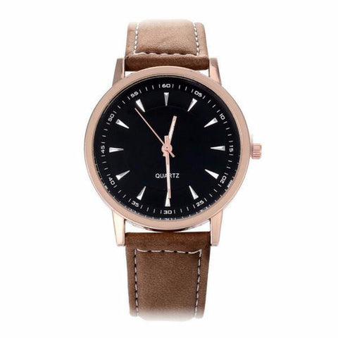 Independent: Midnight Black PU leather watch