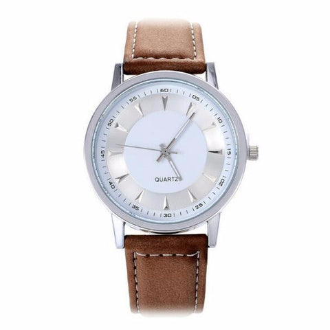 Independent: Chrome Silver PU leather watch
