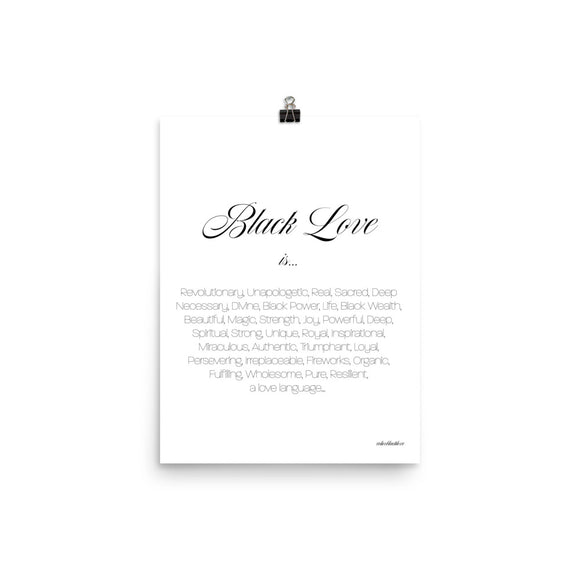 'Black Love is...' Poster/Print