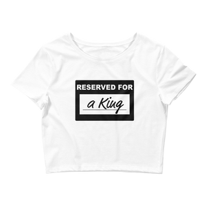"""Reserved For"" Crop Top"