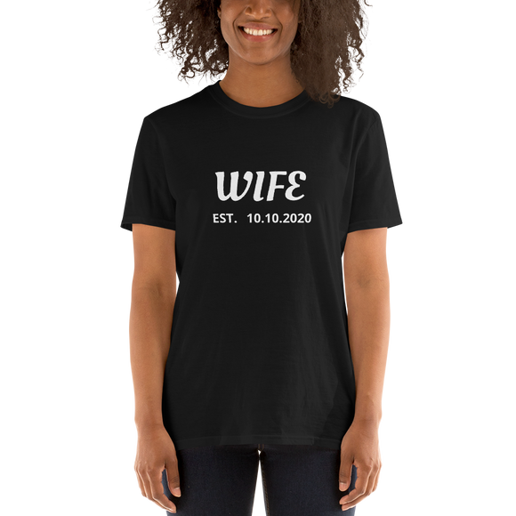 WIFE- Personalized Marriage Date Tee
