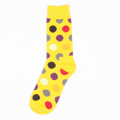 Medias Yellow Dots