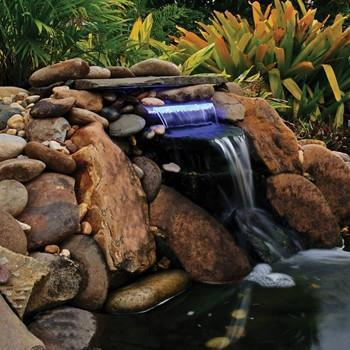 "OASE Lighted Waterfall with Blue LED 12"" Spillway"