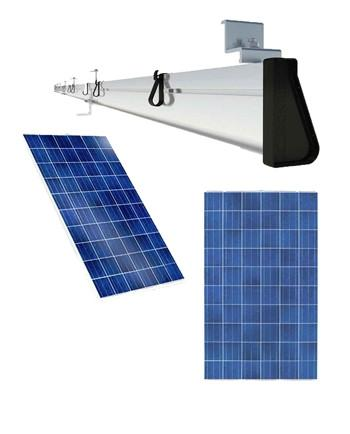 3 - 255 WATT SOLAR PANELS AND RACKING