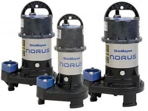 SHINMAYWA:  NORUS STAINLESS STEEL 3,300- 10,000 GPH PUMPS