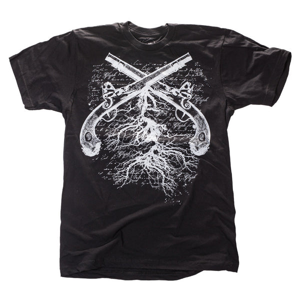 Men's duel black graphic t-shirt