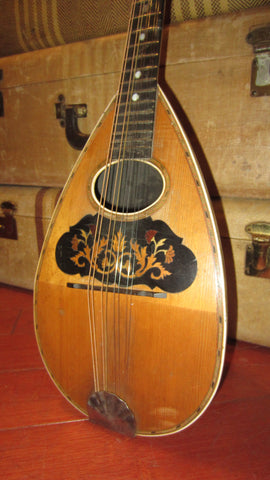 ~1910 Unknown Bowl Back Mandolin Natural Plays well looks great
