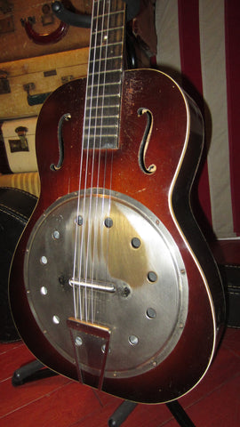 Vintage 1934 Shearson Resonator Guitar Natural