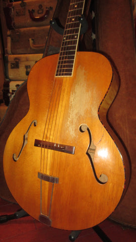 Vintage 1930's Wards 1-0007 Archtop Acoustic