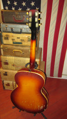 Vintage circa 1939 Gretsch Sychromatic Sunburst w/ Piezo Pickup Installed & Gig Bag