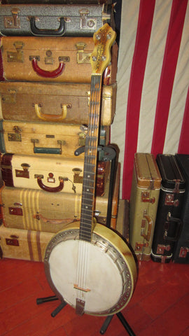 1949 Kay Old Kraftsman 5 String Banjo White and Brown
