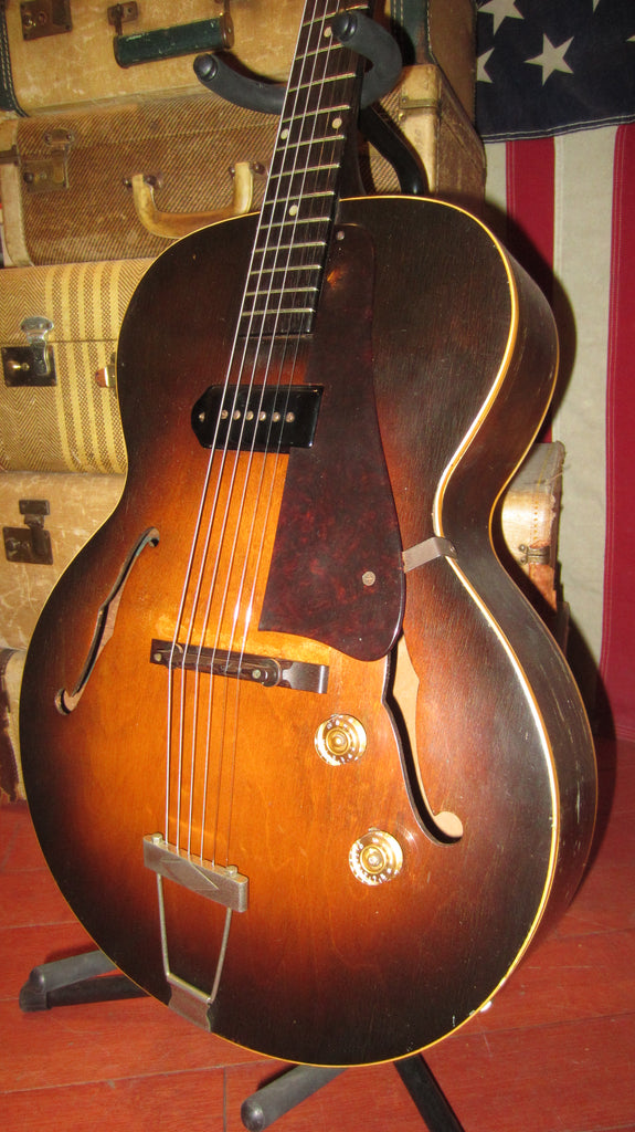 Vintage 1950 Gibson ES-125 Hollow Body Electric P-90 w/ Hard Case