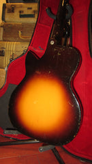 Vintage Circa 1959 Kay Custom Kraft K4144 Sizzler Electric Guitar Sunburst w/ Case