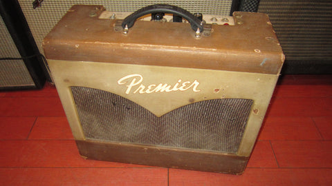 Vintage 1959 Premier  Twin 8 Tube Amp Brown two tone