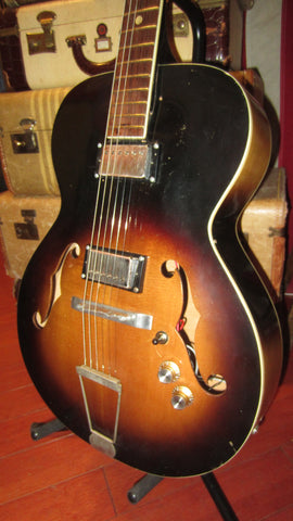 Vintage 1960's Kay N-3 Archtop Acoustic Electric w/ Added Humbuckers