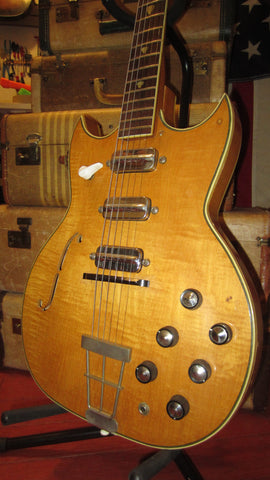 Vintage 1960's Kay Pro Speed Demon Natural w/  Original DeArmond Speedbump Pickups