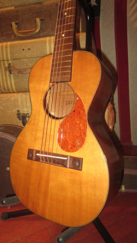 1961 KAY Small Bodied 3/4 Size Acoustic Parlor Guitar Natural