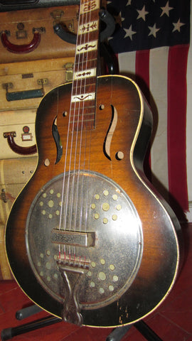 1963 Harmony Dobro Resonator Acoustic Electric Sunburst